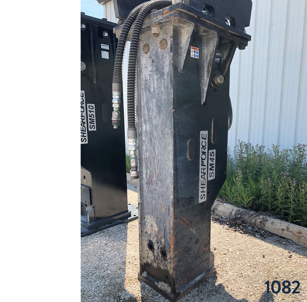 shearforce sm45 excavator hydraulic hammer for rent on sale used canada