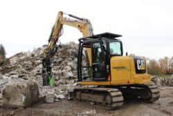 CAT 308 rental excavator with ShearForce excavator attachment