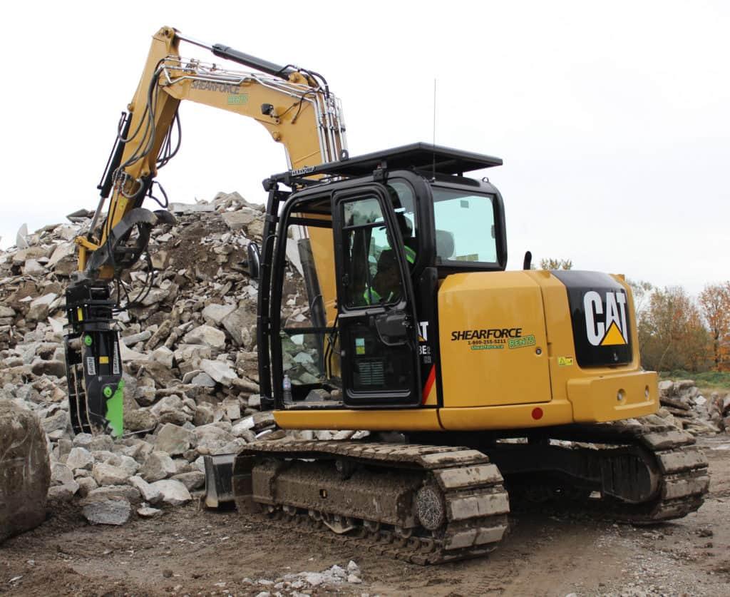 cat rental excavator