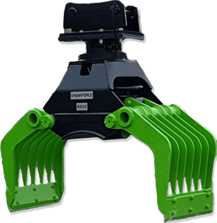 ShearForce Rotating Demolition Grab attachment for excavators