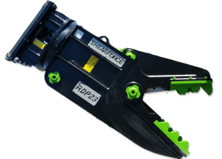 ShearForce Rotating Demolition Pulverizer excavator attachment