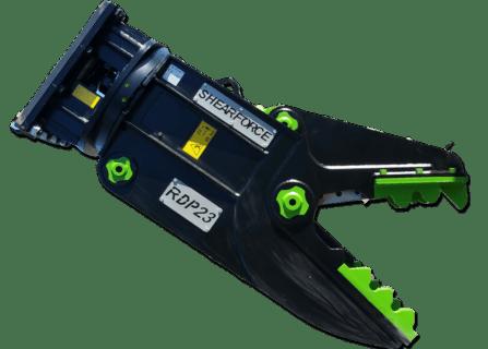 ShearForce Rotating Demolition Pulverizer excavator attachment