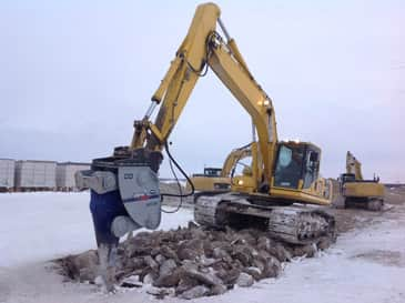 Excavating Frozen Ground