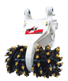 Simex Rotary Cutters Excavator Attachment