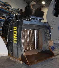 Used REMU Screening Bucket excavator attachment