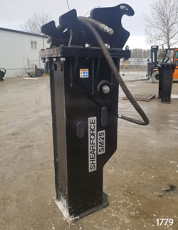 shearforce sm25 hydraulic hammer for sale rent used