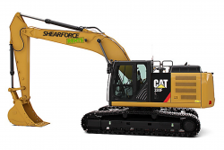 shearforce equipment CAT-330-excavator-rental-35 ton demolition hydraulic rotation for rent