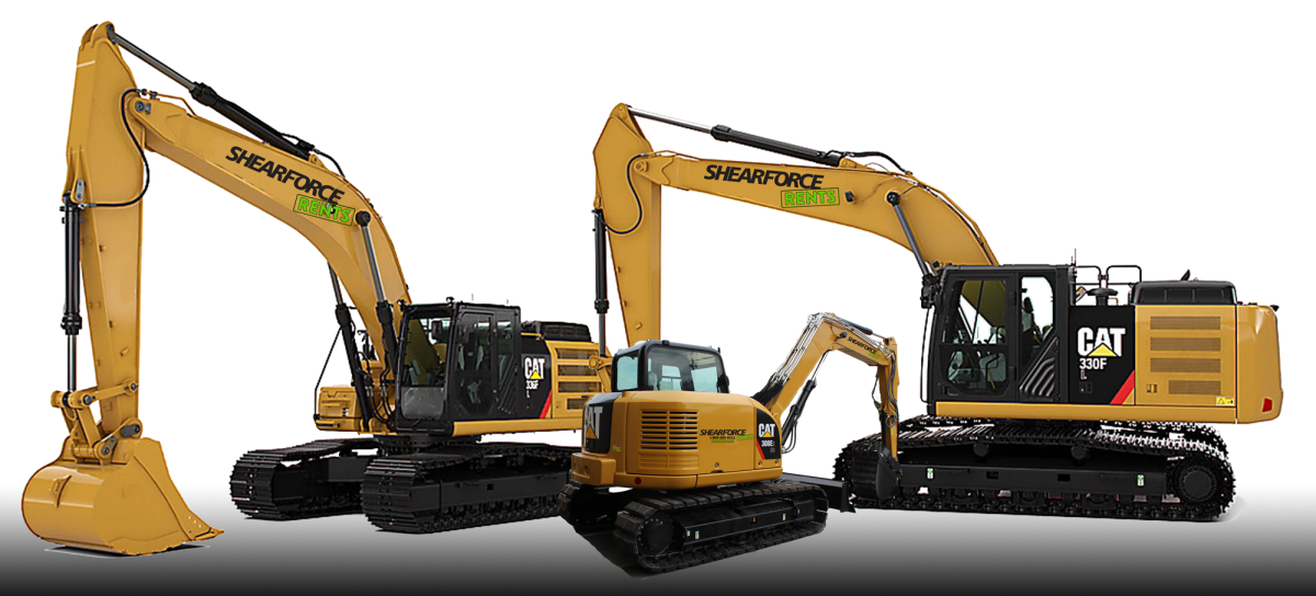 shearforce demolition excavators for rent
