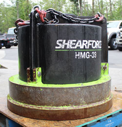 shearforce hmg 38 hydraulic magnet excavator used for sale