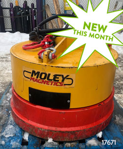 moley magnetics esa 38 hydraulic magnet excavator for sale used rent