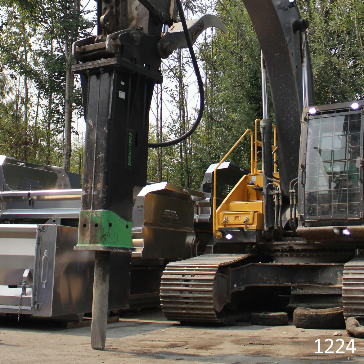 shearforce h155e hydraulic hammer excavator for sale used