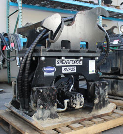 shearforce svp25 hydraulic compactor for sale used