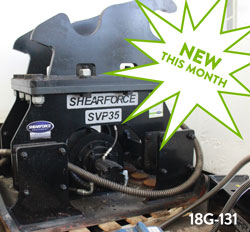 shearforce svp25 hydraulic compactor for sale used rent