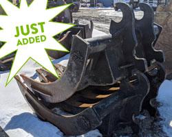 fms brush rake for sale used rent excavator