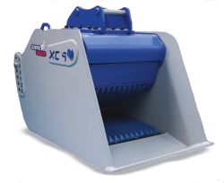 xcentric crusher bucket for excavator skid steer for sale rent canada