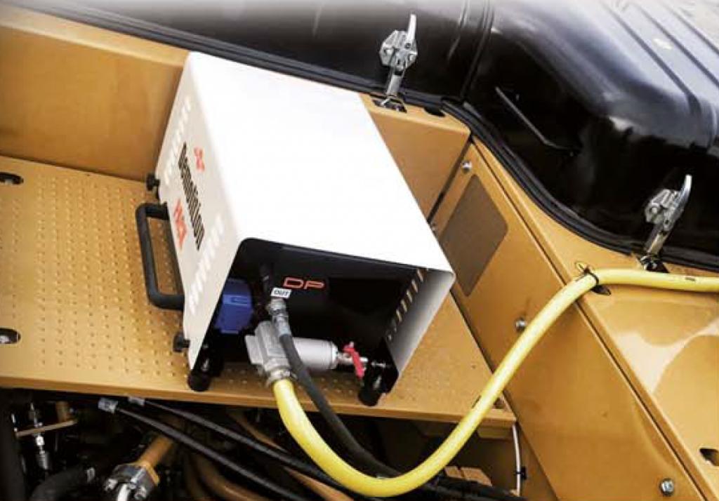 leotech dust suppression mounted excavator