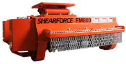 shearforce excavator flail mower for sale rent canada