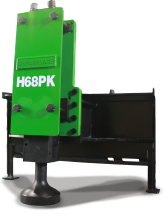shearforce-post-king-hydraulic post pounder driver skid steer excavator